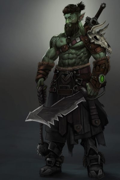 green orc male